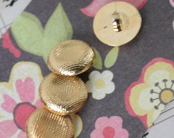Vintage button / button gold / button round diameter 18mm / BOUT143