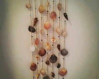 Seashell, Driftwood and Bead Wall Hanging, Wind Chime