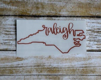 Raleigh Sticker Raleigh Decal Raleigh NC Decal Raleigh NC Sticker Raleigh North Carolina