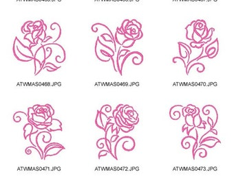 Art-Deco-Roses  ( 10 Machine Embroidery Designs from ATW ) XYZ17B