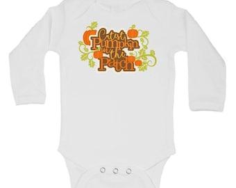 CUSTOMIZABLE Thanksgiving Onesie, Boy Girl Pumpkin Patch Onesie, Boy Girl Fall Onesie, Matching Fall Sibling Shirts