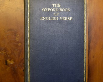 The Oxford Book Of English Verse, 1939