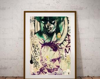 """Paris Street Art Photography, Prince,Robert De Niro, Street Life, Fine Art Photography, 20 cm x 30 cm, 8"""" x 12"""""""