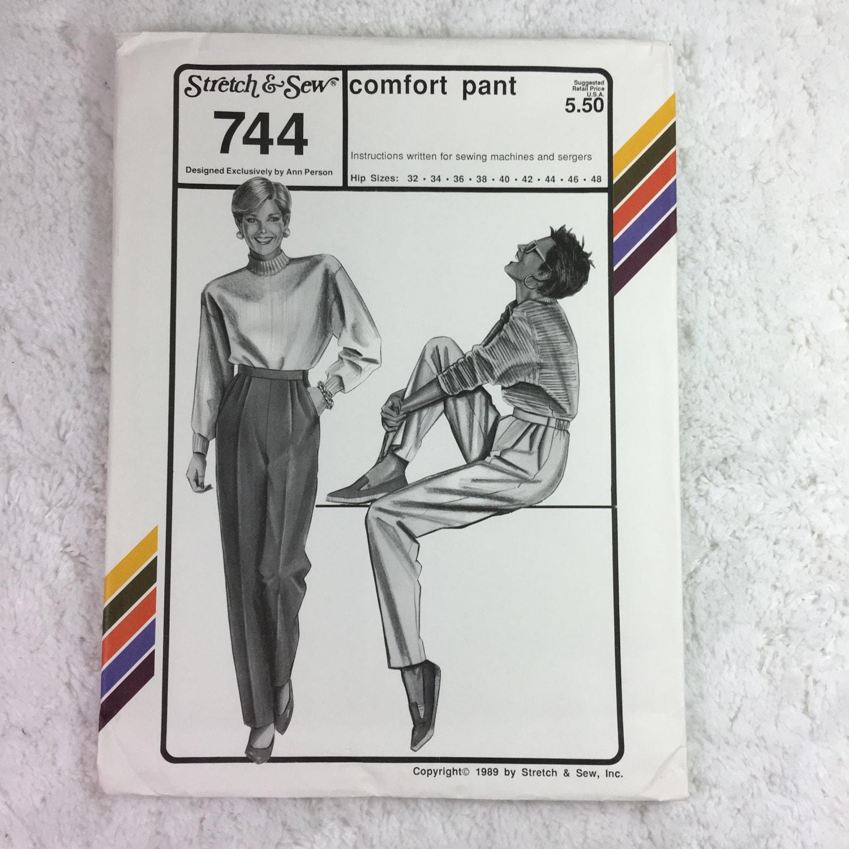 Estiramiento y Sew 744 costura patrón confort bragas cadera tallas ...
