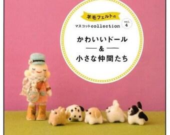FELT WOOL MASCOT Collection Vol 4 Japanese Craft Book felt Doll mascot Wool felt collection animal