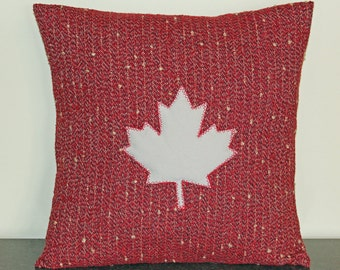 Cushion Cover, Canada Day, Canada 150, Pillow Cover, Made in Canada, Maple Leaf, Custom, 18x18, Decorative Throw Pillow, Canadian Gifts
