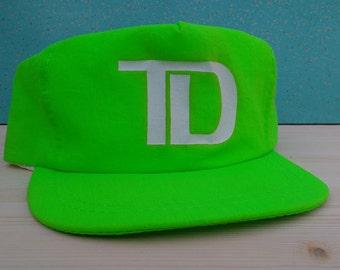 Neon Greenish Slimer Yellow TD snapback vintage cap