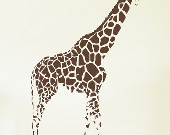 GIRAFFE Wall Sticker, Removable Decal, Made In Australia