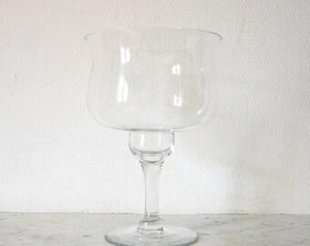 Amazing transparent leaf blown glass jar