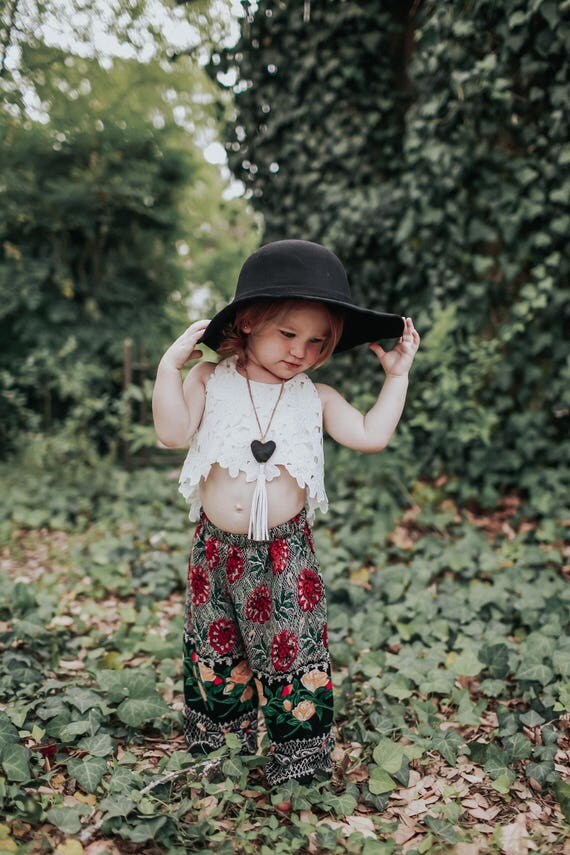 Fall Toddler Outfit, Boho Birthday Outfit, Hippie Pants, Toddler Boho Pants, Children's Pants, Kids Boho Pants, Floral Pants, Toddler Pants
