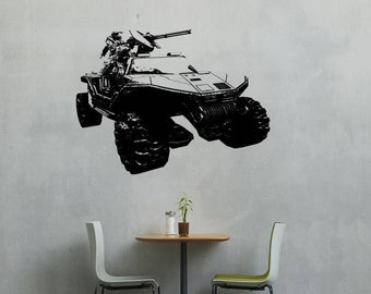 Game Warthog wall vinyl or sticker great for gamers