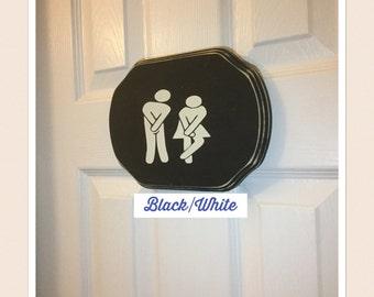 Bathroom sign/ restroom sign