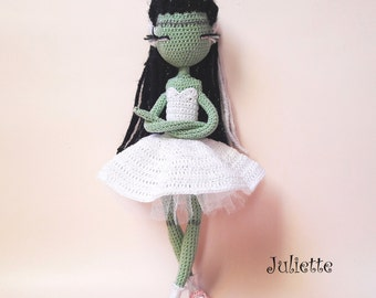 Juliette - Halloween Crochet doll pattern
