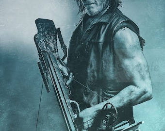 The Walking Dead Daryl Dixon Season 7 Norman Reedus Zomby TV poster