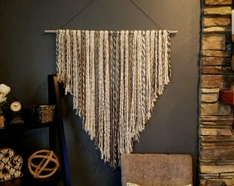 Large wall Art, Textured wall Hanging, Boho Decor, Boho Chic, Boho Nursery, Tribal Nursery, over bed art, nursery wall art, custom macrame