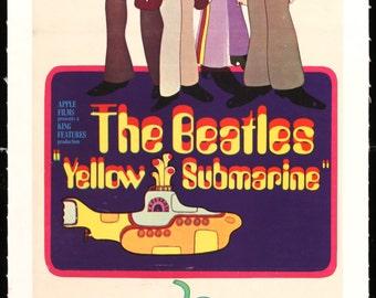 Yellow Submarine (1968) Vintage Australian Movie Poster