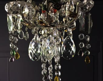 Antique French Crystal Chandelier, An Outstanding and Extremely Rare Ceiling Chandelier, 1920's