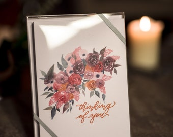 "THINKING OF YOU - Boxed Set of (10) 5x7"" Greeting Cards"