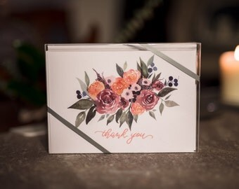 "THANK YOU - Boxed Set of (10) 5x7"" Greeting Cards"