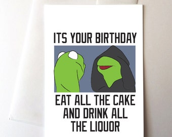 Evil Kermit Birthday Card