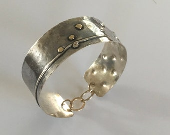 Sterling Silver Cuff Bracelet, Hammered silver Bracelet, Hammered oxidized Bracelet, Oxidized Silver Bracelet, Gold Cuff, Silver Cuff,