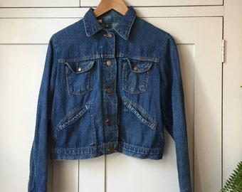 Vintage Cropped Denim Jacket Sz M