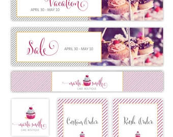 Matching Etsy Banner, Etsy Shop Set for Premade Logo Design, Add On, Custom Etsy page, Etsy Marketing package, Etsy Pro Branding Package