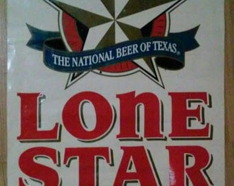 1980's Lone Star Beer bar banner