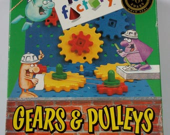 Gears and Pulleys activity toy. Museum of Science and Industry Chicago. Idea Factory. Winner of Best Toy Award