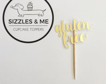 Gluten free cupcake toppers