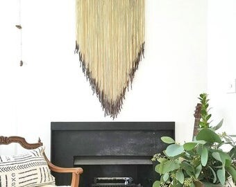 Large Hanging Tapestry with black Dipped accent