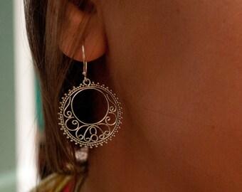 Sterling Silver Earrings * Silver Earrings * Dangle Earrings * Everyday Earrings * Filigree Earrings * Handmade Earrings * Detailed * BJE048