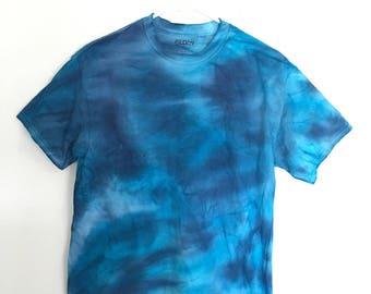Blue Blurry Tie-Dye Shirt