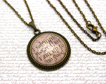 Harry Potter, 'I Solemnly Swear' Necklace or Keychain, Keyring