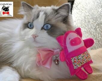Catnip Cat Toy - Pink Catnip Toy Cat - Cat Toy with Catnip Toys Catnip Cat Toy - Nif The Pig - Pink Catnip Toy Pig