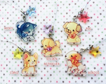 Puppies 1.5'' Acrylic Charms