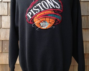 Vintage 90s DETROIT PISTONS Sweatshirt - Embroidered