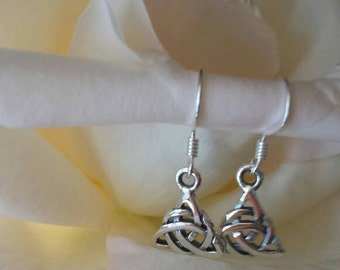 Silver Earring pendants triquetra-pagan wiccan jewelry-jewelry-wicca-pagan-witch