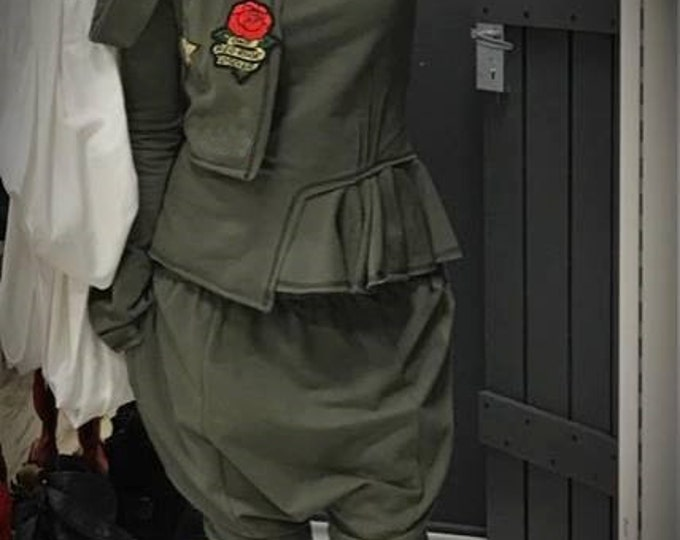 Loose Casual Pants, Military Balloon Pants, Drop Crotch Pants, Harem Pants