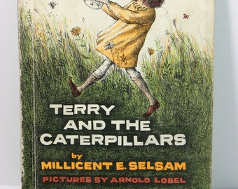 Terry and the Caterpillars by Millicent E Selsam & Illustrated by Arnold Lobel - Vintage 1962 Science I Can Read Hardcover Children's Book