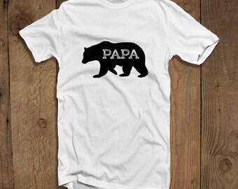 Papa Bear Father Shirt Papa Bear Fathers Day Gift T-shirt for Men Bear Shirt for New Dad Family Shirt Gifts For Dad Family Man Husband Shirt