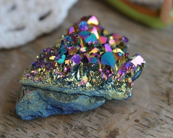 Rainbow Titanium Aura Cluster 4