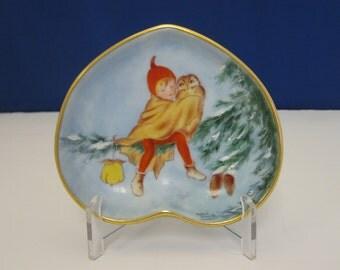 Hand painted Fairy Dish/pin tray