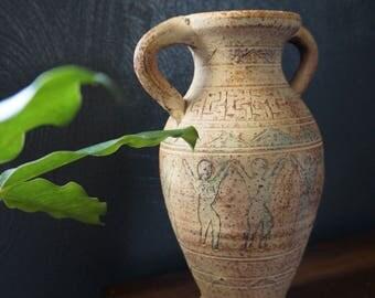 stoneware vase - celebrating women - vintage vase - pottery vase - studio pottery vase - large pottery vase - vintage pottery - feminist art