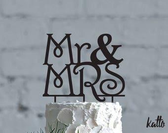 Mr and Mrs Wedding cake topper, Custom Calligraphy Mr and Mrs Wedding Cake Topper, Wedding Cake topper Gold, Custom Wedding Cake Topper