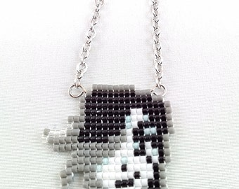 Metaton Necklace - Undertale Necklace Pixel Necklace Metaton Head Necklace Video Game Necklace 8bit Jewelry Geeky Gifts Anime Necklace
