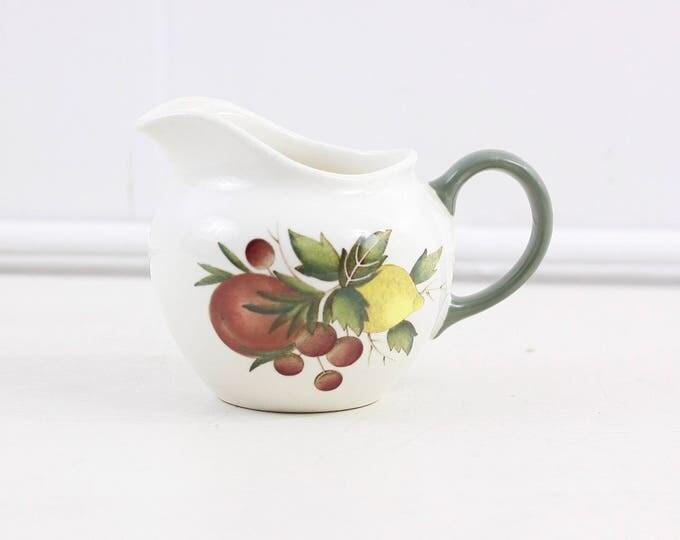 Wedgwood creamer, covent garden of etruria & Barlaston, vintage ceramic creamer, small milk jug in white and green