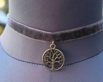 Velvet Tree Of Life Choker