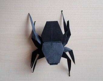 Origami spider Halloween decoration