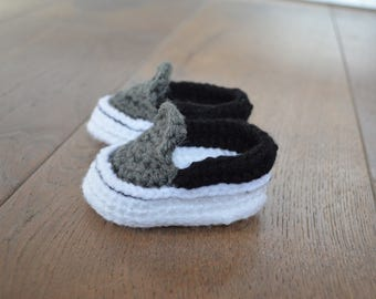 Crochet Baby shoes - Baby sneakers - Newborn shoes - Shoes for a boy - crochet baby booties - gender reveal baby shoes - gift baby shower